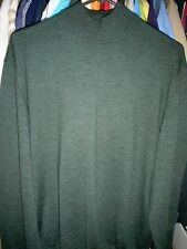 Stylish & Beautiful Saks Fifth Avenue Green Wool Mock Neck Sweater-Made in Italy