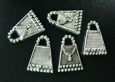 45pcs Tibetan Silver Beaded Handbag Charms R208