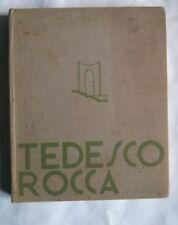 Fiumi, ARRIGO TEDESCO ROCCA, 1932 dedica