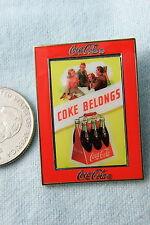 WILLABEE & WARD PIN COCA COLA COKE BELONGS