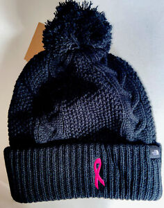 NWT North Face Women's Breast Cancer  Pink Ribbon Cozy Chunky Beanie ONE SIZE