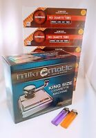 MikrOmatic Cigarette Making Injector Machine  with 5 pack of tubes and lighters