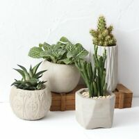 Silicone Pot Mold Concrete Flowerpot Mould Modern Design Cement Planter