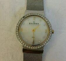 SKAGEN Denmark Women's Stainless Steel Mesh Bracelet Watch Mother of pearl