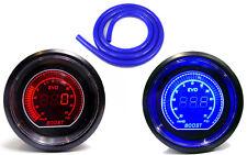 52mm Turbo Boost gauge 35 psi Red Led & Blue Hose