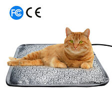 "Electric Pet Heating Pad Dog Cat Mat Letter Waterproof Adjustable 17.7""x17.7"""