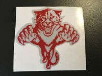 STICKER REFLECHISSANT TIGRE ROUGE CASQUE MOTO AUTOCOLLANT RETRO REFLECHISSANT