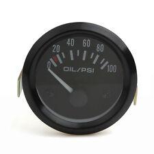 52mm 2Inch Auto Car 0-100 PSI Oil Pressure Gauge White Light Display Meter