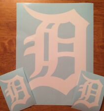"Detroit Tigers Old English D 3 Pack  Vinyl Decal 12""& (2) 4""**FREE SHIPPING**"