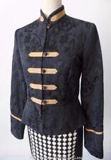 REVIEW AUSTRALIA Long Sleeve Black and Gold Military Style Jacket Size 12 US 8