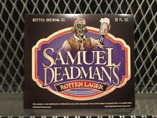 SAM ADAMS BEER Mock Bottle Label ~ DEADMANS LAGER ~ Funny Halloween Sticker