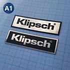 2 x Klipsch - METALLIC Case Logo Sticker Badge - 2.75 inch/1 inch - 70mm / 20mm