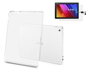 Silicon TPU Back Cover for ASUS ZenPad 10 Z301 / Z300M & Glass Screen Protector