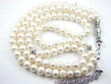 7-8mm x 99 FRESH WATER PEARLS Marwareed Lou Lou PRAYER BEADS ISLAMIC TASBIH GIFT