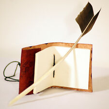 MEDIEVALE / LARP / RE emanazione / Scriba / Jane Austin accurate PIUMA Quill & BOOK Set