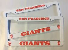 2 SAN FRANCISCO GIANTS License Plate Frame NEW Auto Truck FREE SHIPPING