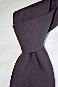 """$95 NWOT PAUL FREDRICK Merlot Burgundy men's Luxury 3.5"""" Seven Fold Wool tie"""