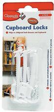 Clippasafe 6 x Cupboard Locks Latches Child Baby Kids Proofing Home Safety BNIP