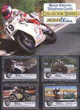 ISLE OF MAN FOLDER 4 SCHEDE MANX TELECOM NUOVE TEMATICA MOTO ANNO 1993
