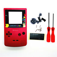 Picachu Monster Eeveee Housing Shell for Nintendo Game boy Color GBC - RED
