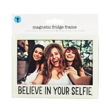 "Shot2Go Believe In Your Selfie Magnetic Fridge Frame 4x6"" NEW"