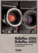 1986 ROLLEIFLEX 6006 & 6002 MEDIUM FORMAT CAMERA SYSTEM BROCHURE -ROLLEI