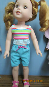 "Shorts Set made to fit the 14.5""  Wellie Wishers slim Dolls"