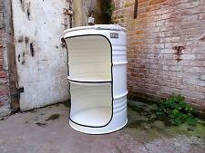 Fassmöbel Fass Beleuchtung Design Regal Ölfass Möbel 210 l viele Farben Weiß