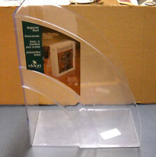 NEWELL OFFICE PRODUCTS CLEAR DOUBLE CURVE DESKTOP MAGAZINE RACK 5.25 X 9 X 11