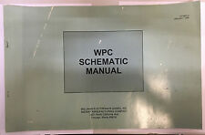 PINBALL MACHINE MANUAL-WPC SCHEMATIC MANUAL WILLIAMS/MIDWAY #16-9834-2 UNFOLDED
