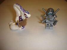 2 Lego Ninjago White Snake Pythor &Titanium Zane Minifigures new 2015