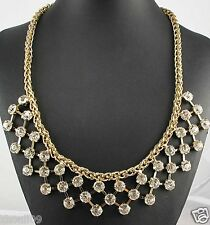 crystal chunky chain charm necklace 1056 Newest Design huge Lady Statement light