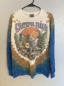 Vtg Grateful Dead 1994 Fall Tour Tie Dye T Shirt Liquid Blue 2000 LG