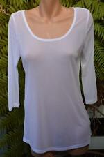 AUTOGRAPH White Mesh Layering TOP. Size 14 NEW. 3/4 Sleeve. Season Essentials.