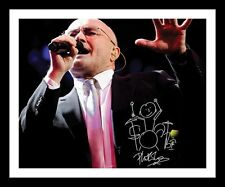 PHIL COLLINS AUTOGRAPHED SIGNED & FRAMED PP POSTER PHOTO 1