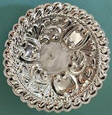 Stunning Peruvian 800 Silver 3 Footed Repousse Dish Bowl Hallmarked Pereda 70g