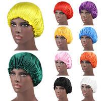 Cap Bonnet Elastic Silk Hair Satin Head Band Wrap  Hat Night Turban Cover Sleep