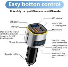 Sonru Car Bluetooth FM Transmitter Handsfree Car Charger USB QC 3.0 USB SD
