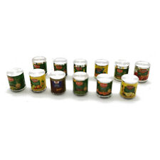 12Pcs Dollhouse Canned Fruit Jam Cans 1:12 Miniature Food Accessories