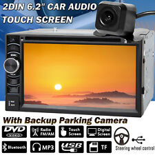 "Double 2DIN 6.2"" Car Stereo Radio DVD Player Touch Screen + Rear Camera Hot!"
