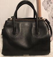 Rebecca Minkoff Large Classic Black Leather Bag with Removable Shoulder Strap