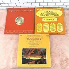 Classical Music Vintage Vinyl Records Box Set LOT - Debussy Tchaikovsky Fiedler