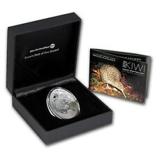 New Zealand -2016- Silver $1 Proof Coin- 1 OZ  Kiwi Proof Egg Shape