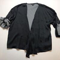 Relativity Black Georgette Wrap Jacket Lightweight Shrug Size Medium SAMPLE A100