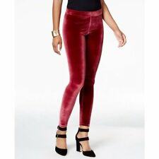 HUE Leggings SZ M Sangria Burgundy Velvet Leggings Casual Legging U16826H