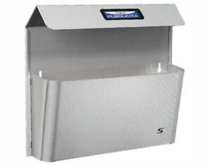 Cassetta postale posta cesto porta pubblicità SILMEC bimetal INOX con tetto