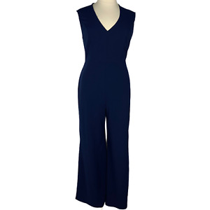 Soprano Women Pant Jumpsuit Blue Sleeveless V Neck Wide Leg Plus Size 2X NEW
