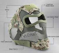 V7 Watchers Tactical Full Face Helmet Low-carbon Steel Mesh Protect Mask Cover
