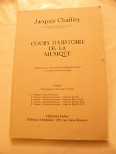 Partitura Curso d'historia de la música Jacques Chailley 1er Volume