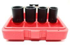 "Set of 4 Lug Nut Wheel Lock Remover Kit 1/2"" Sockets 17mm 18.5mm 21.5mm 26mm"
